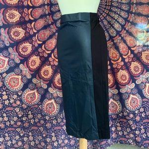 J Crew Sample Black Leather Midi Pencil Skirt 4